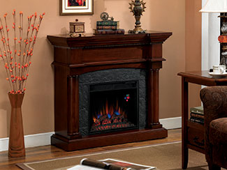 Small Electric Fireplace Mantel Packages